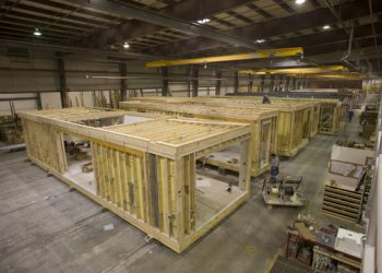 Smart Home being constructed at the All American factory